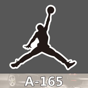 A-165 Jordan Waterproof Fashion Cool DIY Stickers For Laptop Luggage Fridge Skateboard Car Graffiti Cartoon Stickers