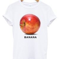 Banana white t shirt
