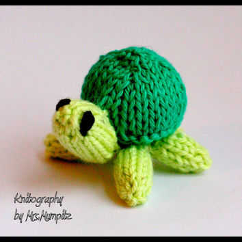 Toy Turtles - mini-turtles Knitting pattern PDF