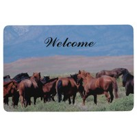 Wild Horses Out West Floor Mat