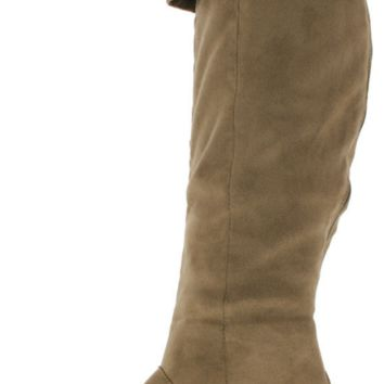Taupe Knee High Boot