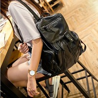 Comfort College Hot Deal Back To School On Sale Summer Korean Rinsed Denim Stylish Casual Backpack [6582945287]