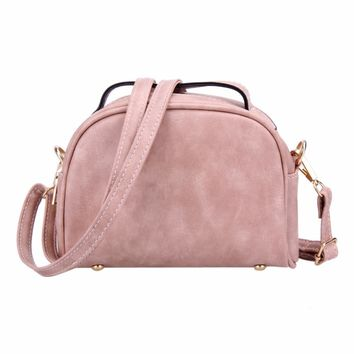 Fashion Small Women Messenger Bag PU Leather Handbags Mini Shoulder Crossbody Bag Casual Girls Clutches Purses Cell Phone Pouch
