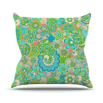 "Julia Grifol ""Welcome Birds to my Garden"" Throw Pillow"