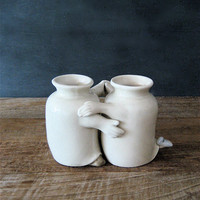 Vintage Pair Fred and Ginger Dancing Vase by lovintagefinds