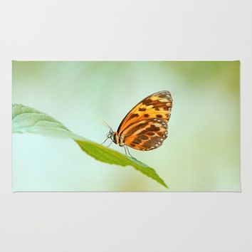 Butterfly Love Rug by Tanja Riedel