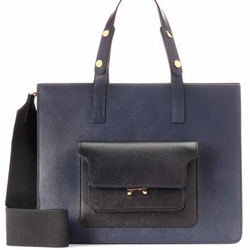 City Trunk leather shoulder bag