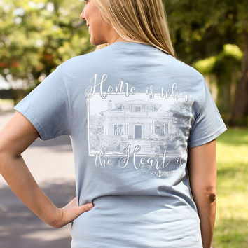 Southern Darlin Home is Where the Heart Is Bright Girlie T-Shirt