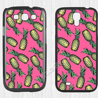Pineapple Samsung Galaxy S3 S4 S5 Case,Cute Pink Pineapple Galaxy S3 S4 S5 Hard Rubber Case,cover skin Case for Galaxy S3 S4 S5