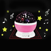 Rotary Flashing Starry Sky Music Decorative Novelty Lamp