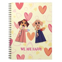 Origami colorful dog pattern notebook