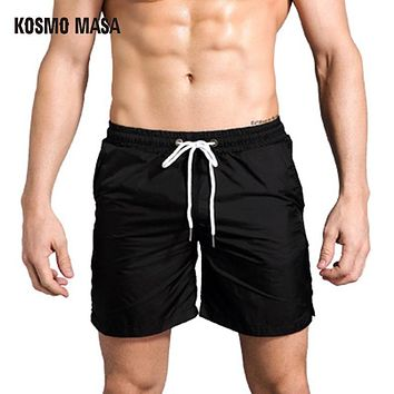 Summer Straight Breathable Shorts Men's Sweat Cargo Solid Quick Dry Bodybuilding Beach Casual Short