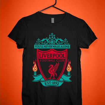 You'll Never Walk Alone Liverpool Logo tshirt for merry christmas and helloween