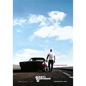 Fast & Furious 6 27x40 Movie Poster (2013)