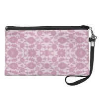 Dream Floral in Pink Wristlet Purses