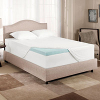 "COMFORTLUXE 3"" GEL MEMORY FOAM MATTRESS TOPPER - TWIN (OPEN BOX)"