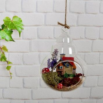 Terrarium Glass Vase Plant Stand Hanging Glass