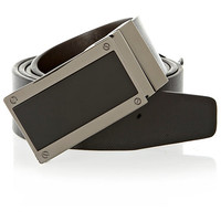 River Island MensBlack plate buckle reversible belt