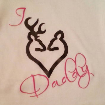 I love Daddy Buck and Doe new baby gift. Baby shower Hunting Onesuit