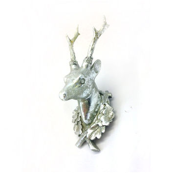 Silver Stag Wall Mount