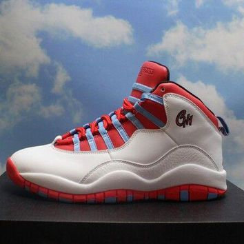 "[Free Shipping]Air Jordan 10 Retro ""Chicago"" Men's Athletic Sneakers [310805 114]  Basketball Sneaker"