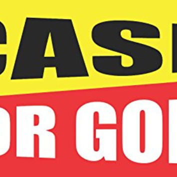 Cash For Gold 2ftx4ft Vinyl Retail Banner Sign