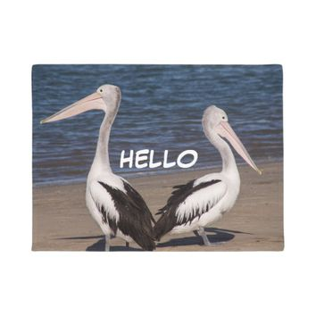 Nature Pelicans Beach Doormat