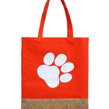 Two Material Paw Print Tote Bag Accessory 62