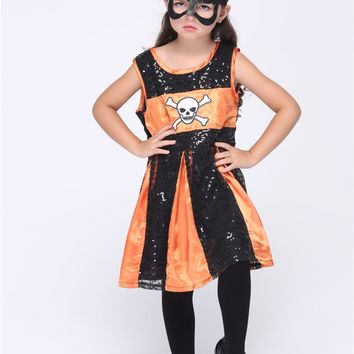 Girl Batman Cosplay Costumes Halloween Stage Performance Child Costumes fantasia vestido Tutu dress Kids carnival party Outfit