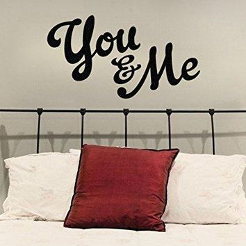 You and Me Vinyl Wall Decal Sticker.