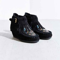 Ash Serpico Beaded Moccasin Boot- Black
