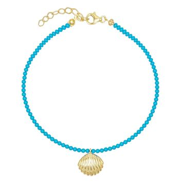 Turquoise Shell Anklet