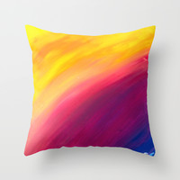 Skyfall Throw Pillow by Sierra Christy Art