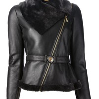 Versace Collection Leather Jacket - Etre - Vestire - Farfetch.com