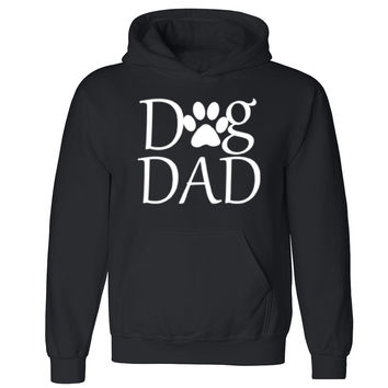 Dog Dad Paw Print Unisex Hoodie Dog Dad Dog Mom rescue dog Hooded Sweatshirt