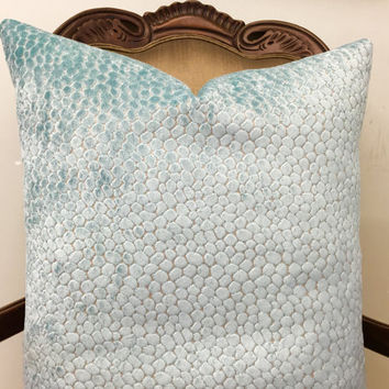 Turquoise Velvet Pillow Cover, Blue Pillow, Velvet Pillow, Cushions Blue, Decorative Pillows, Designer Pillows, Velvet Throw Pillow Covers