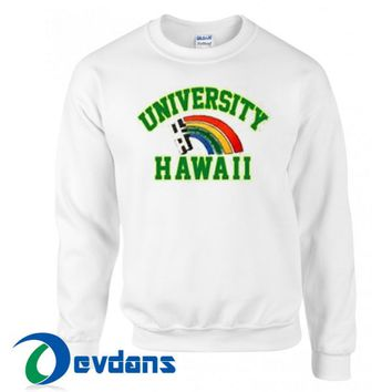 University Hawaii Rainbow Sweatshirt Unisex Adult Size S to 3XL