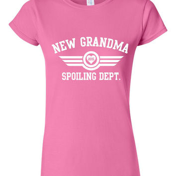 Customized New Grandma Spoiling Dept t Shirt grandma t shirt, shirt for grandma mimi shirt nana tshirt gift ideas Fun shirts