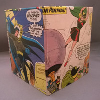 Batman superhero comic book decoupage tissue box cover