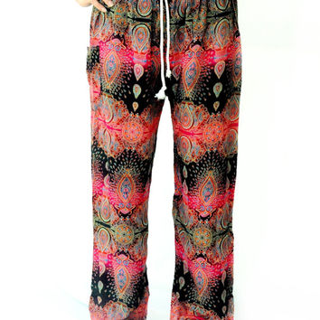 Indian Harem pants/boho pant gorgeous  one size fits all handmade for women  Boho Hippie Gypsy Loose Trousers