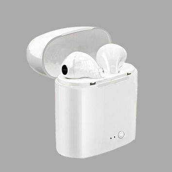 Dual Wireless Bluetooth i7 i8 Earbud Headset In-Ear Earphone for Apple iPhone
