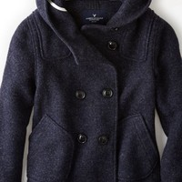 AEO Women's Double Breasted Duffle Coat (Grey)