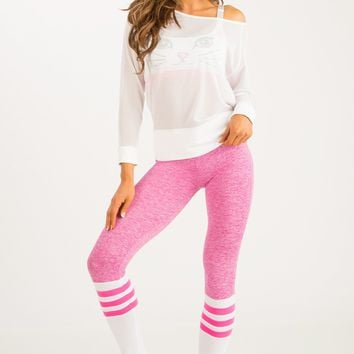 Sock Leggings - Pink