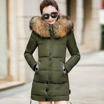 Winter Jacket Women's Fur Hooded Parka-BUYFYE Members ONLY