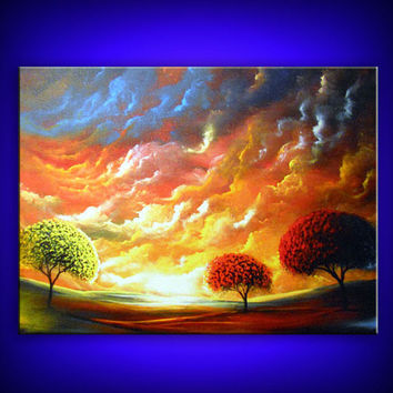 limited edition lollipop tree stretched canvas giclee by mattsart