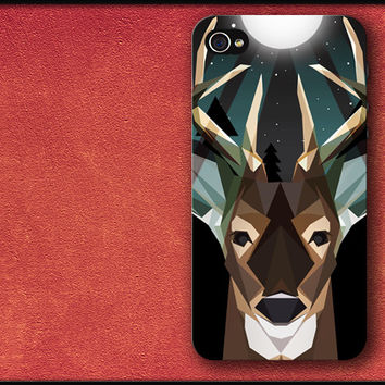 Geometric Deer Face Phone Case iPhone Cover