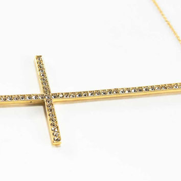 Cross & Rhonestones Necklace