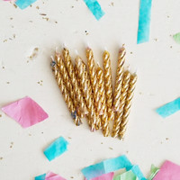 Sparkly Gold Petite Party Candles