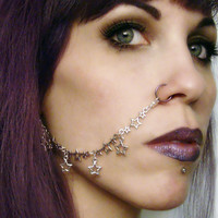 Stardust Nose Chain in Silver or Gold