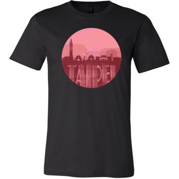 Taipei Skyline Horizon Sunset Love Taiwan Gift Shirt